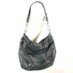 Coach leather shoulder bag *paint stains